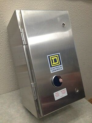 Square D 8903Lxw40V02 4 Pole 30 Amp Mechanically Held Lighting Contactor Nema 4X