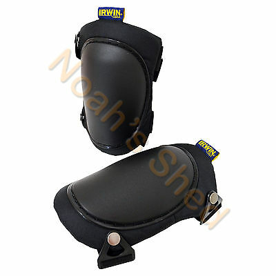IRWIN Professional Safety Hard Shell Cap Knee Pads Easy Sliding Pivoting R-322