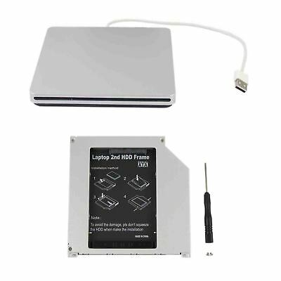 2nd HDD SSD Caddy for Macbook Pro Unibody + USB Enclosure Case for SuperDrive US
