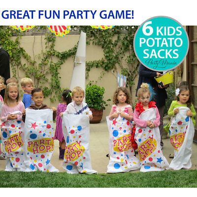 Potato Sack Race Boy Girl Birthday Party Game Decorations Pack Of 6