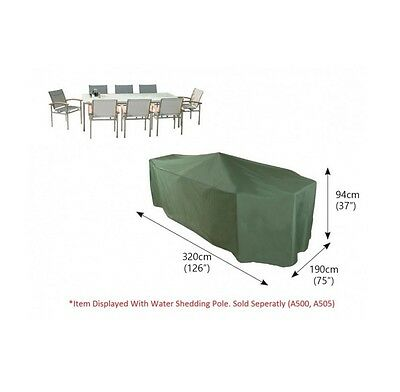 Bosmere C537 - Cover up Rect Patio Set Cover 8-10 Seat