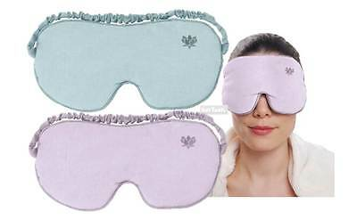 Aroma Home Soothing You Deluxe Soft Cotton Velour Lavender Aroma Eye Mask 2 Cols