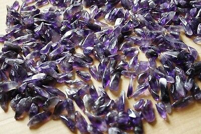 NEW 100% Natural Lot of Tiny Clear Amethyst Quartz Crystal Rock Chips 50g AAA+++