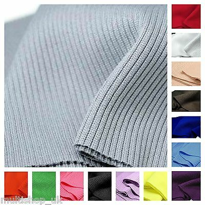 14cm x 80cm Elastic Rib Knit Fabric Cuffs Waistband Knitted Fabric Trim Jersey