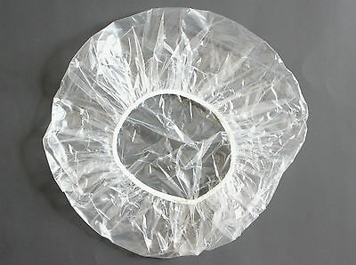 Disposable Clear Shower Caps 10 Large 24""