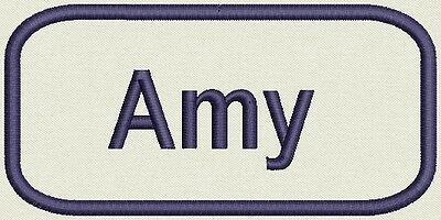 Embroidered Women Name for Uniform, work Shirt - Amy