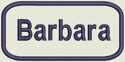 Embroidered Name for Uniform, work Shirt - Barbara