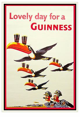 014 Vintage Advertising Poster Art Guinness *FREE POSTERS