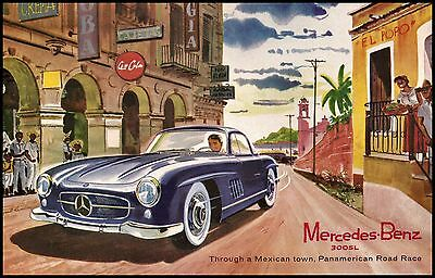 009 Vintage Advertising Transport Poster Art  Mercedes-Benz