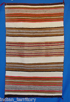Navajo Indian Blanket: Transitional Period Banded Blanket Pattern c.1890