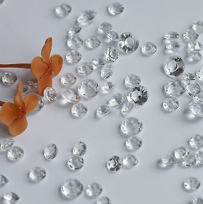 10000pcs  4.5MM +6MM  clear   Diamond Confetti Wedding Table Scatter Crystals