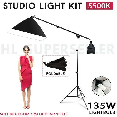 Photography Studio Boom Arm Softbox Video 675W Soft Box Continuous Light Stand