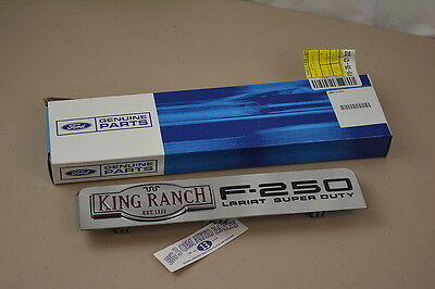 2008-2010 Ford F-250 King Ranch Lariat Super Duty RH or LH Fender EMBLEM new OEM