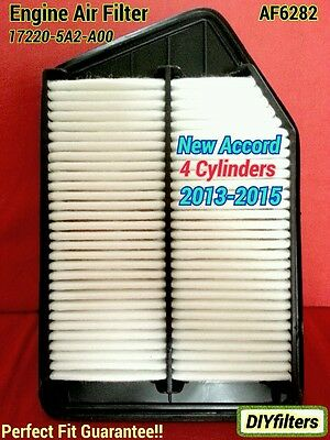 AF6282 Engine Air Filter For Accord 2013-16 4 cyl. Acura TLX 2.4L 17220-5A2-A00