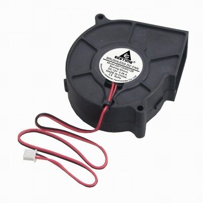 GDSTIME 12V 75mm 75 x 30mm Blower Fan Brushless Centrifugal Cooling Fan 2Pin