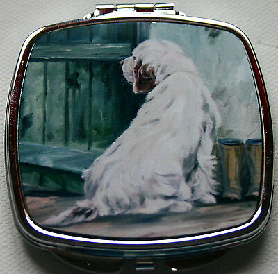 CLUMBER SPANIEL DOG ladies handbag mirror compact purse Sandra Coen sublimation