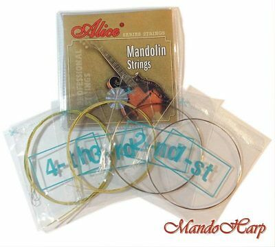 Mandolin Strings - Alice AM04 Lt/Med-Weight Copper-Coated Alloy-Wound .010-.034