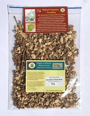 DANDELION ROOT RAW Taraxacum officinalis Herb Tea 70gms Wild Harvested