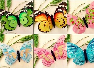 New 40pcs 3D Magnetic Butterfly Fridge refrigerator Magnets Room Car Wall Decor