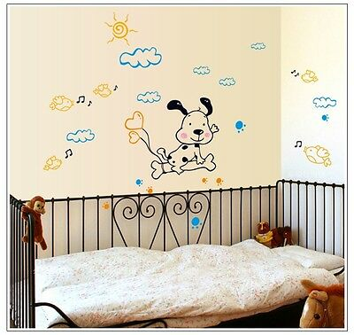 Removable Wall Stickers 83 Dog bone baby nursery kids room decor decals mural