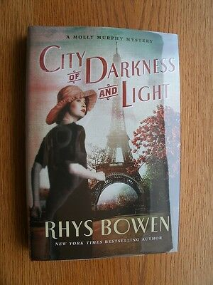 Rhys Bowen City of Darkness and Light 1st US HC SIGNED New