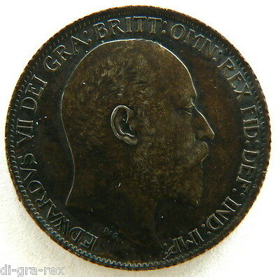 1905 SIXPENCE Edward VII British Silver UNC Choice Toning (Our Ref DGRXW888)