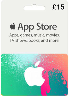 £15 iTUNES UK Pfund iPhone Guthaben Code Pound GIFT CARD APPLE Karte Key