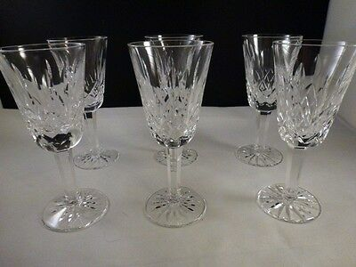 """set of 6  Waterford Crystal Lismore  Sherry  Glasses 5-1/8"""" Excellent      MINT"""