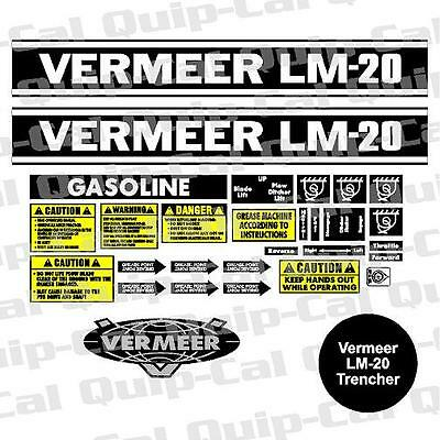 Trencher Decal Sets  For Astec  Case  Delta  Ditch Witch  Tesmec  Vermeer