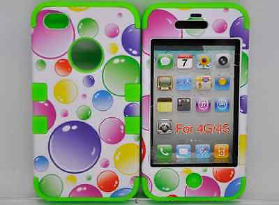 3 in 1 Silicone Tuff Layer Rubberized Case Iphone 4 4G 4S 5 5G 5S Samsung S3