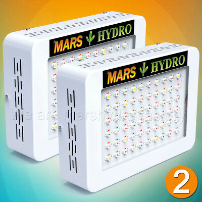 2PCS Mars Hydro 300W LED Grow Light Lamp Full Spectrum Indoor Plant Veg Flower