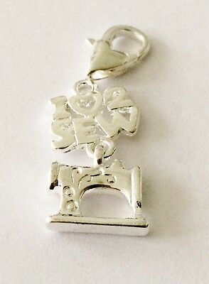 SILVER PLATE 3D LOVELY LITTLE SILVER BOW  CLIP ON CHARM FOR BRACELETS B