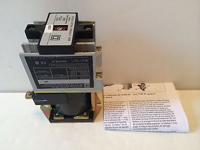 NEW! SQUARE D CONTROL RELAY 8501-XD040 8501XD040 COIL 24V