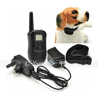 Electric LCD Shock E-Collar Dog Training Remote Control Anti-Bark Rechargeable