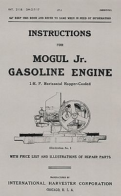 IHC Mogul Jr. 1 H.P. Instruction Manual
