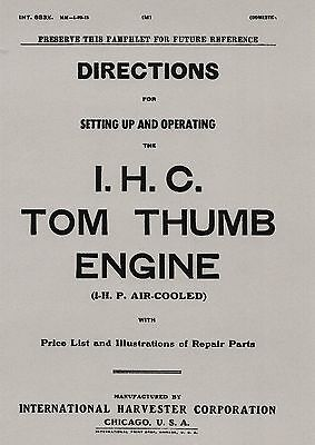 IHC Tom Thumb Engine Manual 1 HP Air Cooled