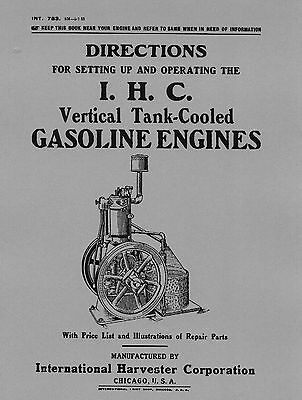 IHC Vertical Tank Cooled Engine Operating Manual