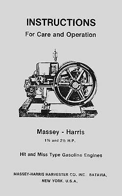 Massey - Harris  1½ and 2½  Gas  Engine Manual