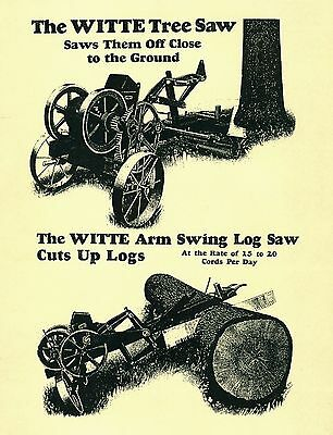 Witte Tree Saw  Operating Manual and Parts List