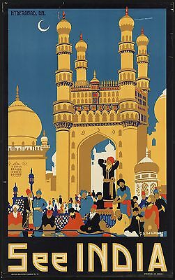 0081 Vintage Travel Poster Art - India