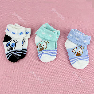 Cartoon Warm Baby Infant Toddler Non-slip Booties Anklet Boots Shoes Ankle Socks
