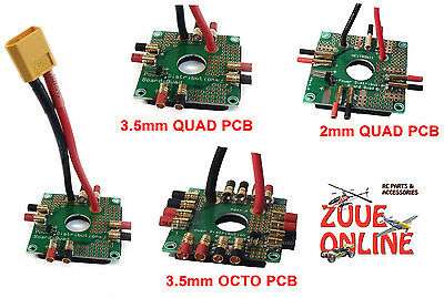 RC QUADCOPTER OCTOCOPTER POWER DISTRIBUTION BOARDS PCB WITH XT60 2mm 3.5mm