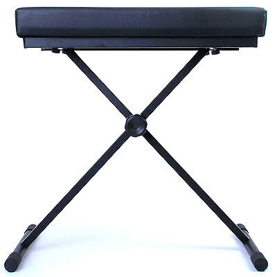 Nordell Deluxe Keyboard Stool: Padded Seat/Bench with 5 Year Warranty