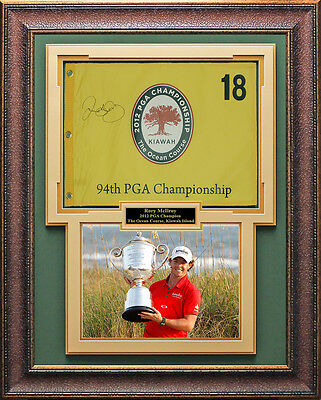 Rory McIlroy Signed 2012 PGA Flag Framed