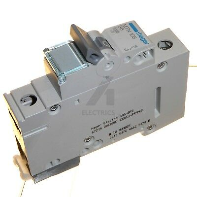 Hager MTN Type B MCB Single Pole Circuit Breaker 6A 10A 16A 20A 32A 40A 50A 63A