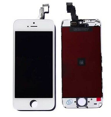 White Glass Digitizer + LCD Touch Screen Frame Assembly for iPhone 5C