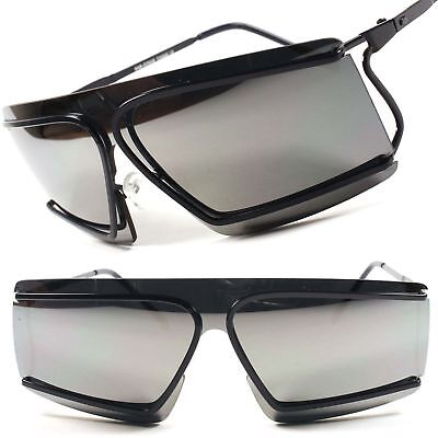 29e464ce02 Alien Space Party Costume Cyclops Novelty Mirrored Futuristic Sunglasses  C16A