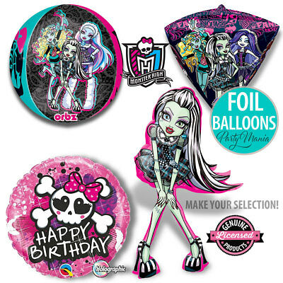 Monster High Girls Birthday Party Supplies Decorations Foil Balloons