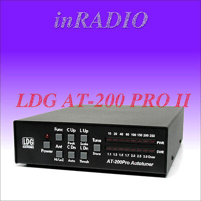 LDG AT-200 PROII AUTOMATIC ANTENNA TUNER 1.8-54MHz 250W ATU FAST DELIVERY AT200