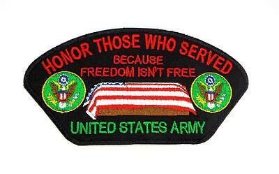 Honor Those Who Served U.S. Army Embroidered Military Patch Iron Sew PWPM5016